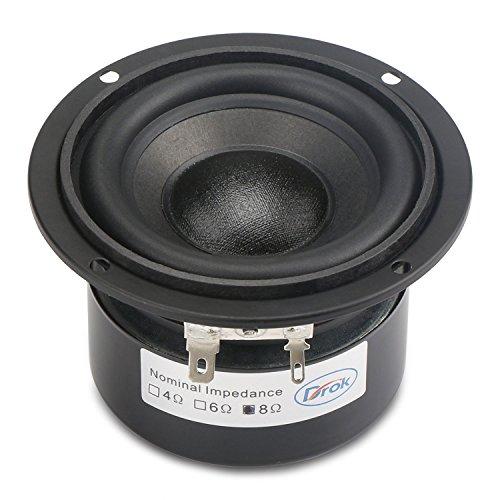 "DROK 3.5"" 8 Ohm Audio Stereo HiFi Speakers, Anti-Magnetic Car Speakers subwoofer Woofer Loudspeaker, 85dB High Sensitivity Thumping Bass for Audiophiles DIY Desktop Computer Speakers"