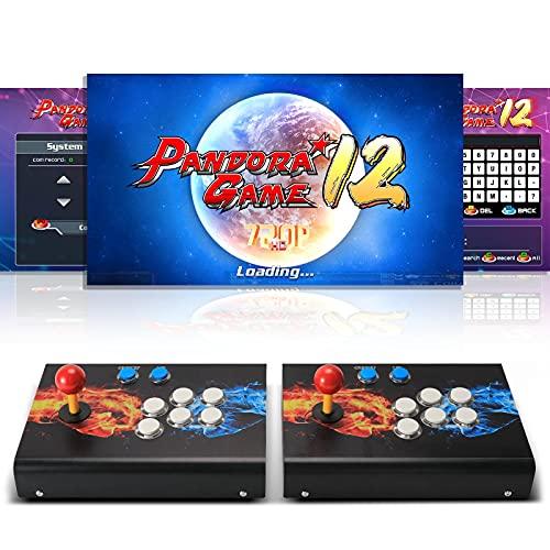 [4300 Giochi Classici] Arcade Game Console, SeeKool Pandoras Box 12 Joystick 2 giocatori Arcade Console, 1280*720 Full HD, Pulsante personalizzato, supporto PS3, alimentazione HDMI e VGA e uscita USB