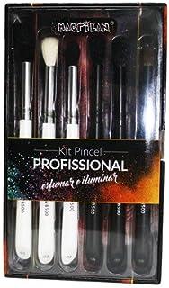 Kit com 6 pincéis profissionais para esfumar e iluminar - WB500, Macrilan