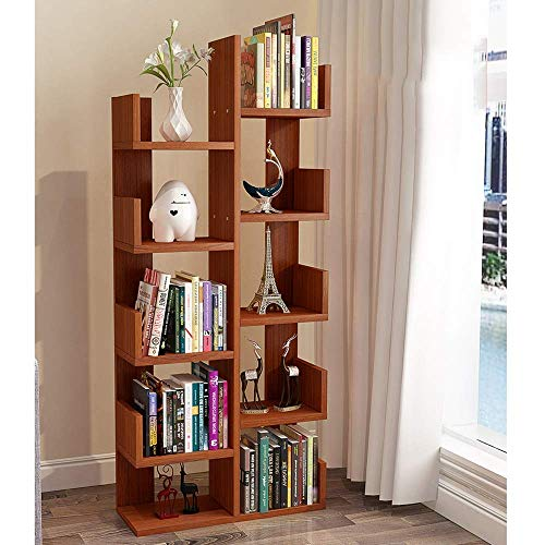 CHOUCHOU Shelves Bookcase Bookshelf Floor Children's Student Corner Tree Creative Shelf (Color : White),Colour:White Flower Pot Rack (Color : Teak)