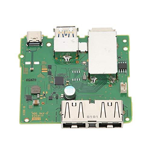 Esenlong Placa base de la estación de acoplamiento, placa de circuito de la estación de acoplamiento de los accesorios del puerto USB para el interruptor de Nintendo fácil desmontar