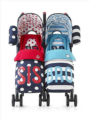 "Zwillings-Kinderwagen ""Supa Dupa"" von Cosatto, ""Sis and Bro 4"""