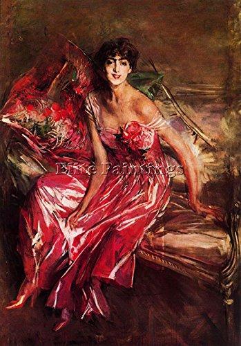 Elite-Paintings Giovanni Boldini Artista Quadro Riproduzione Dipinto Olio Tela A Mano da Maestri 60x40cm Alta qualita