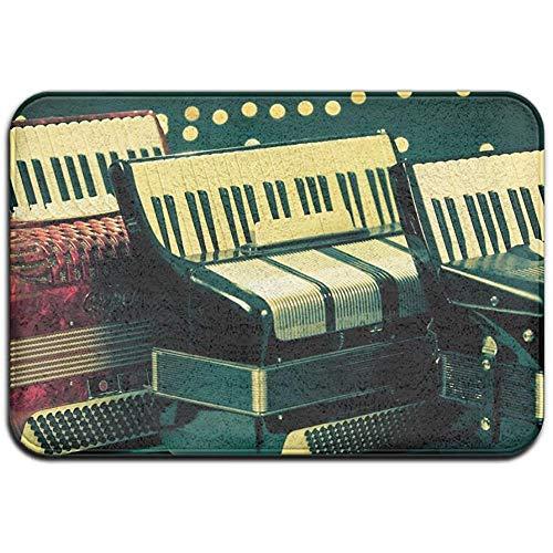 Joe-shop Tapijt Anti-slip Vlek Fade Resistant Deur Mat Muziekinstrumenten Accordeon Outdoor Indoor Mat Room Tapijt