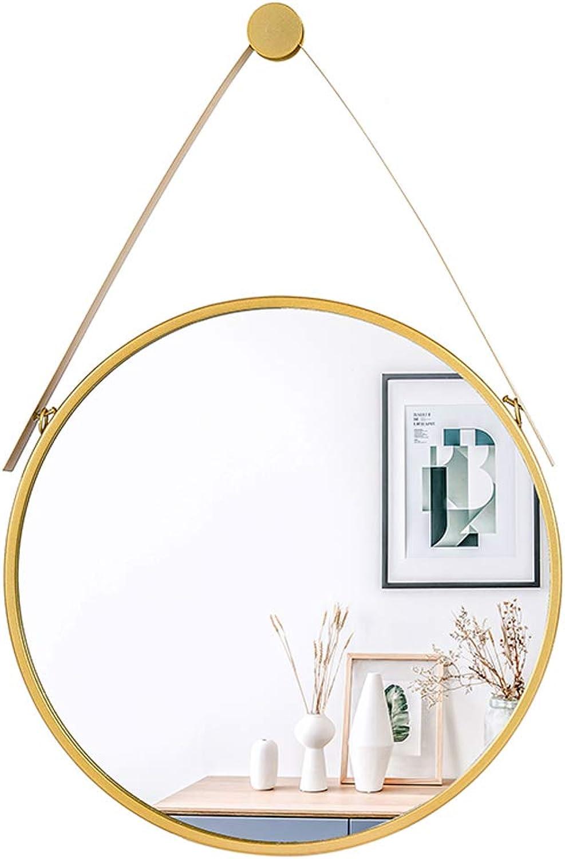 Hanging Mirror (11.8-31.5Inch) Round Bathroom Dressing Mirror Decorative Wall Mirrors for Hallway Living Room Bedroom Modern Circle gold Metal Frame Vanity Shaving Mirror