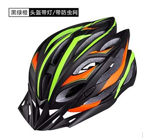 Casco Protector de Seguridad de Ciclismo con luz Trasera LED Casco de Bicicleta de Carretera Desmontable Casco de Bicicleta de montaña Casco de Ciclismo con Red de Insectos