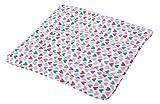 KempKids. Wickelauflage aus hochwertiger Baumwolle Wickelunterlage Wickeltischauflage Größe: 75x85 cm Herzen