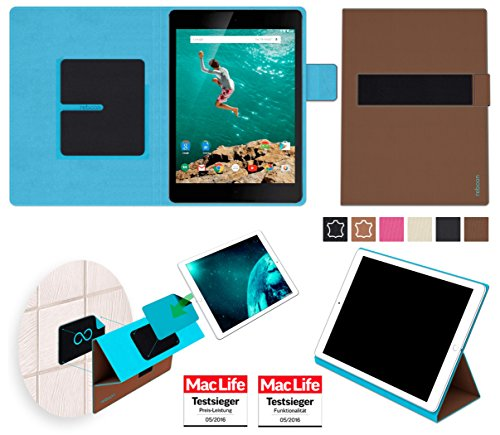 reboon Hülle für Google Nexus 9 Tasche Cover Case Bumper | in Braun | Testsieger