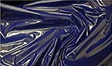 Fabrics-City BLAU Lackleder Stoff Leder LACKSTOFF
