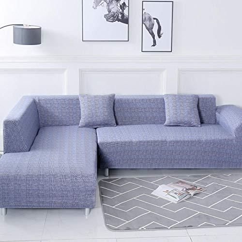 sofaüberzug l Form eckcouch Sofa Überzug Hussen Überzug Couch Cover Muster Couchbezug Couch Antirutsch Mode Denim blau Polyester Material Kommt mit 3 Kissenbezug