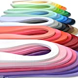 JUYA Paper Quilling Set up to 42 Colors One Color and 100 Strips per Pack 3/5/7/10mm Width Available(42 Colors, Width 3mm)