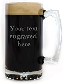Personalized 25 oz. Beer Mug Engraved with Your Custom Text