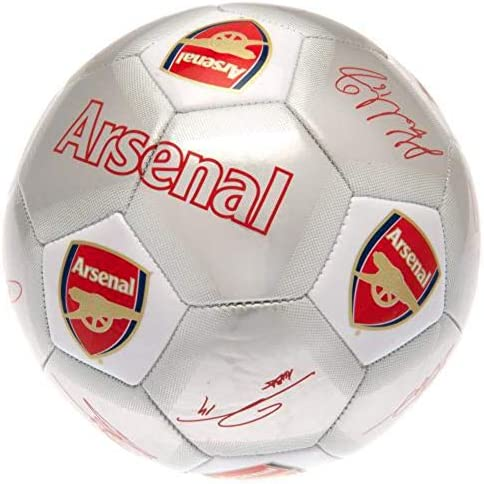 Arsenal FC Printed Players Signatures Signed Football One Size Silver product image
