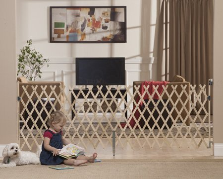 """GMI Keepsafe 84"""" Wood Expansion Gate-Made in USA! Collapses to 20.5""""!"""