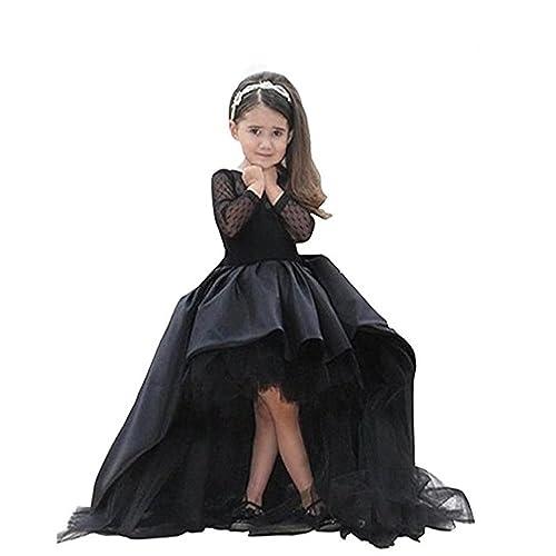 4017a6fbc44 Kalos Dress Shop High Low Long-Sleeves Flower Girl Dress First Communion  Dress