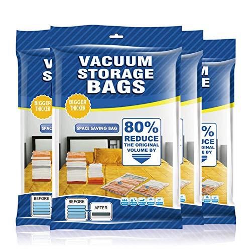 Yoleaf Vakuum-Aufbewahrungsbeutel, 9 Stück, platzsparend, 80 % mehr Stauraum, Handpumpe, Vakuumbeutel für Bettwäsche,...