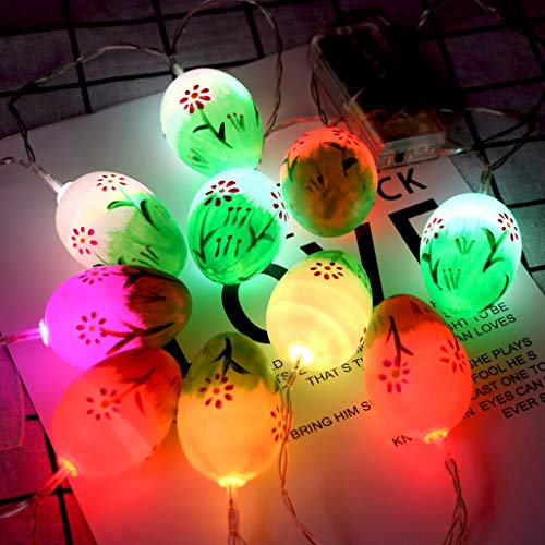 Janly Clearance Sale Easter Colorful Flower Dot Easter Eg g String Lights Children's Room Decoration , Decoration & Hangs forHome & Garden , Easter St Patrick's Day Deal (C)