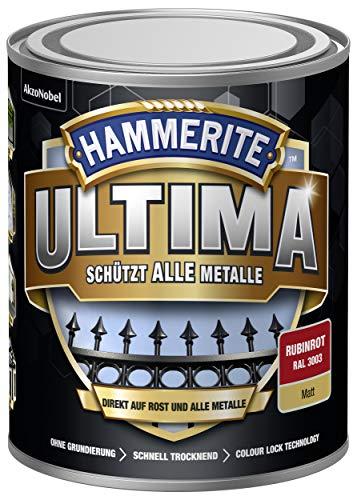5379757 Hammerite ULTIMA Metallschutz Lack Rost 750ml Matt Rubinrot RAL 3003
