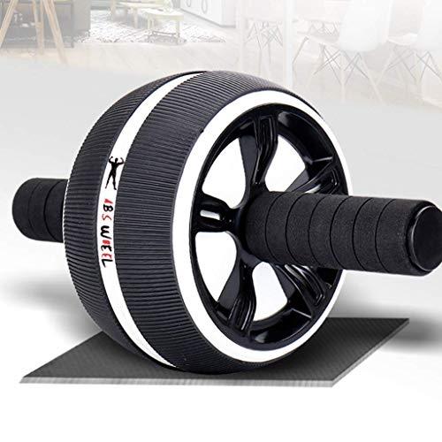 YXYOL Home Gym Ab Roller Rad, Fitness Fitnessausrüstung, Innen Stille Ab Wheel für Männer/Frauen, Sturdy Bauchmuskeln Core Training Trainer,Schwarz