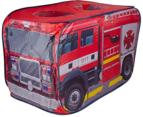 Best For Kids Tienda de campaña para niños con diseño de bomberos, para interior y exterior
