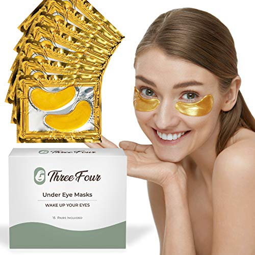 Under Eye Patches for Puffy Eyes I Under Eye Mask Dark Circles and Puffiness I UnderEye Gel Patches and Under Eye Pads w Collagen I Dark Circles Under Eye Treatment for Women and Men 15 pack