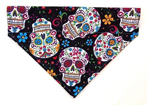 Sugar Skull Day of the Dead Calavera Cinco de Mayo Day Slip Over the Collar Dog Bandana Neckwear Petwear
