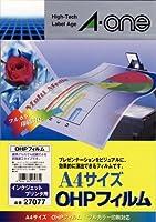 エーワン OHPフィルム インクジェットプリンタ用 27077 00030008【まとめ買い3パックセット】