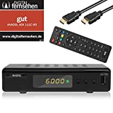 Xaiox Anadol 111c digitaler Full HD Kabel-Receiver [Umstieg Analog auf Digital] inkl HDMI Kabel (HDTV, DVB-C / C2, HDMI, Chinch-Video, Mediaplayer, USB, 1080p) [automatische Installation] - schwarz