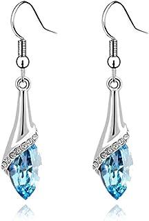 Jojckmen Women Crystal Water Drop Hook Earring Alloy Long Dangle Earrings