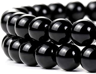 Natural Black Onyx Beads for Jewelry Making 12mm Round Semi Precious Gemstone 15 inch(32-33pcs/strand)