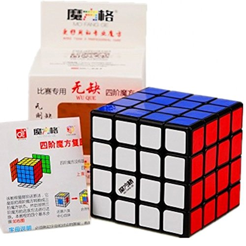 Cuberspeed New Batch Qiyi WuQue 4x4 Black Magic Cube MoFangGe Wuque 4x4 Black Speed Cube
