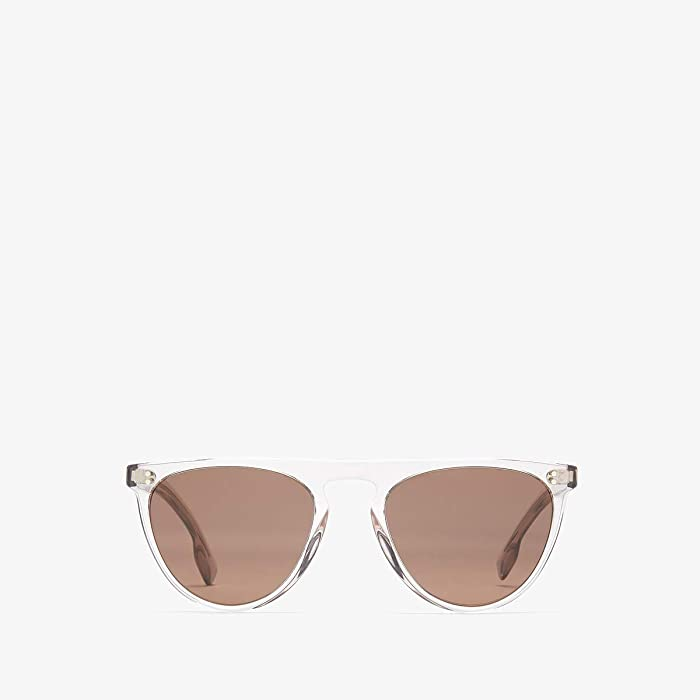 Burberry  0BE4281 (Transparent Grey/Light Brown) Fashion Sunglasses