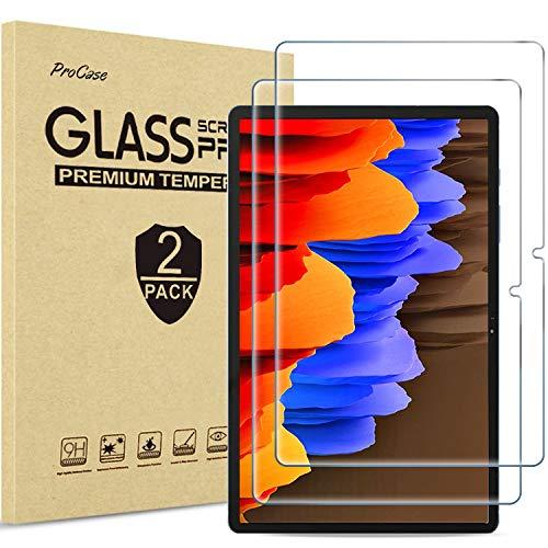 [2 Stück] ProCase Panzerglas Displayschutzfolie für Galaxy Tab S7 Plus (SM-T970/T975/T976/T978, 12.4 Zoll, 2020 Release), Schutzfolio Screen Protector, Schutzglas –Klar