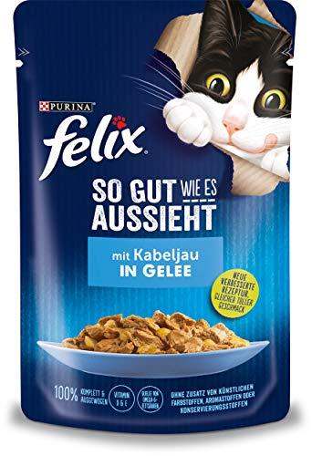FELIX Katzennassfutter So gut wie es aussieht in Gelee mit Kabeljau 24x 85 g