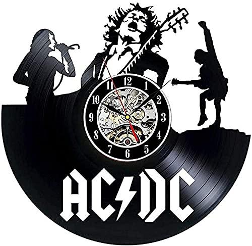 AC DC Vinile Record Parete Regalo Collezione Vintage Orologio Da Parete NO LED-With_Led