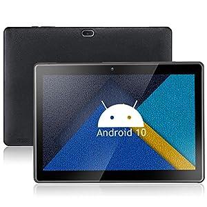 Tablet qunyiCO Y10 Android 10.0 GO de 10.1 Pulgadas, 2 GB de RAM 32 GB de Almacenamiento, cámara Dual de 2MP+8MP, Pantalla de visualización IPS HD de 1280x800, Wi-Fi Bluetooth 5000mAh, Negro