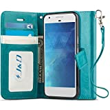 J&D Case Compatible for Pixel 2 Case, Wallet Stand Slim Fit