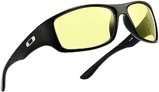 SGJFZD Mens Sunscreen UV400 Riding Polarized Light Full Frame Sporting Sunglasses PC (Color : Yellow)