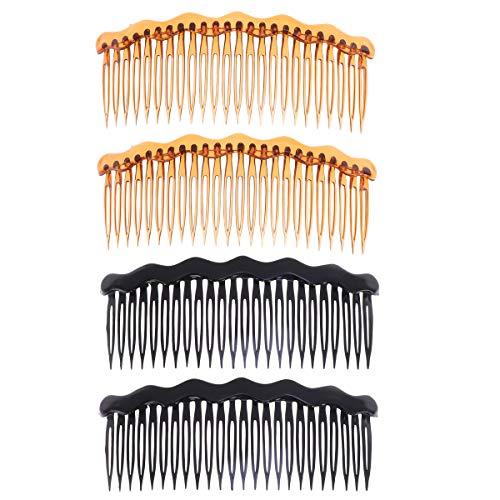 Lurrose 4pcs peignes à cheveux en plastique français côté peignes accessoires de cheveux peigne inséré pour les femmes et les filles