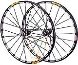 YZU Juego de ruedas de bicicleta MTB 26 27.5 29 en carretera, ruedas de freno de disco de fibra de carbono, bujes de 7 a 11 velocidades, rodamientos sellados QR, 24 agujeros, cubo negro, 29 pulgadas