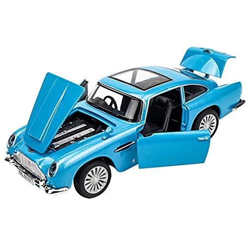 JSFQ Auto Spielzeug Modell Simulation Retro Legierung Oldtimer Modell Spielzeug Dekoration Mit Licht Design Zurückziehen Tür Kann Geöffnet Werden