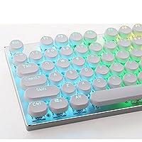 e元素104キーホワイトキーキャップセット メカニカルキーボード交換用円形の形状キーキャップ Cherry MXスイッチ互換用キートップ 87キー兼用 引抜工具付(ホワイト) [並行輸入品]
