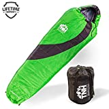 TNH Outdoors Sleeping Bag â Mummy Lightweight Portable, Waterproof, Comfort with Compression Sack â Great for 3 â 4 Season Camping Warm in Winter, Travelling, Hiking, Adult Outdoors Gear