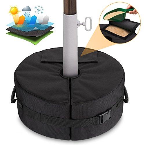 Patio Beach Runder Regenschirm Base Weight Bag - Zeltbodengewicht Tasche für Canopy Sand Ergonomischer Ständer Hinzufügen von Gewicht für Alle Outdoor-Sonnenschirme Oder Fahnenmasten