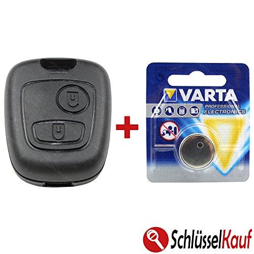 Schlüsselgehäuse Gehäuse Schlüssel Fernbedienung mit Batterie Funk 2 Tasten Neu