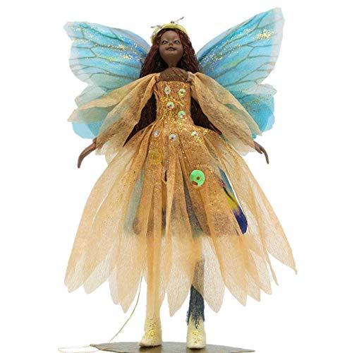 Tassie Design Handmade Brown Hair Celtic Stardust Fairy Doll - with Wings