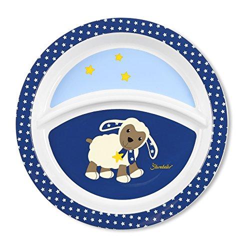 Sterntaler Assiette Bébé, du Mouton Stanley, Âge: Pour les bébés à partir de 6 mois, Bleu