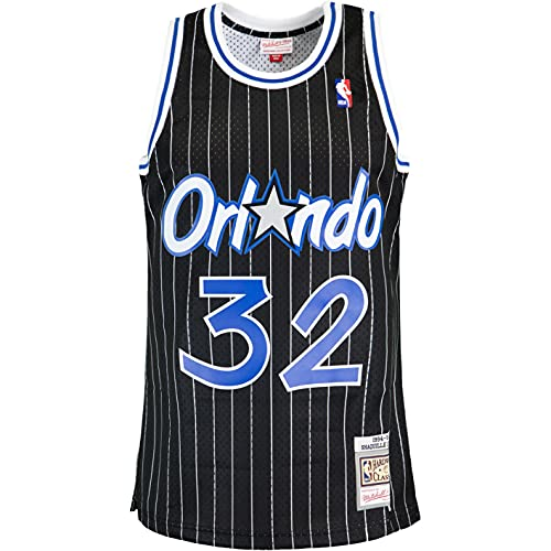Mitchell & Ness Swingman Shaquille O´Neal Orlando Magic 94/95 - Camiseta (talla XL), color negro