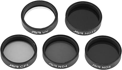 DJI Mavic Air Kamera Filter Set, Drohne Kamera Objektiv Filter Zubeh Star CPL ND4 ND8 ND16 ND32(UV + CPL + ND4 + ND8 + ND16)