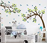 Sayala Koala Baum Wandtattoo-Family Koala(Mon-Pap-Baby) Wandaufkleber- Kinder Babyzimmer Wandaufkleber Kleinkind Sticker Mädchenzimmer Wanddekor (Pink)